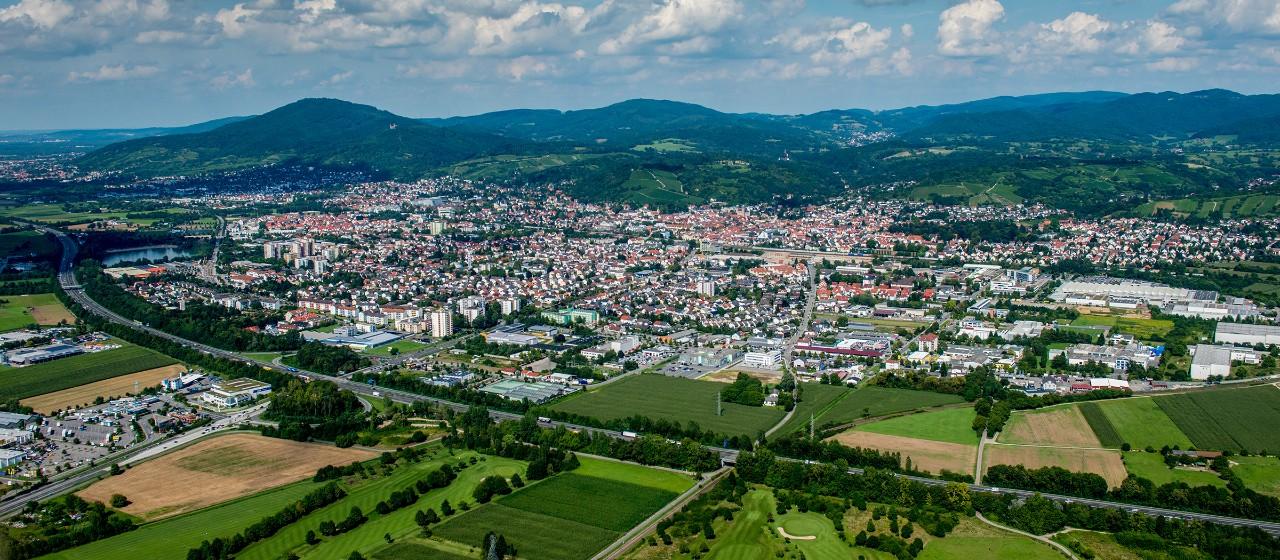 Luftaufnahme Bensheim an der Bergstraße